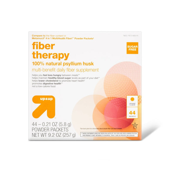 Multi-benefit daily fiber supplement packets - 44ct - Up&Up