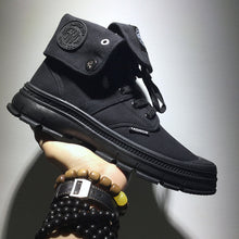 Load image into Gallery viewer, Men's Fashion Solid Color High-Top Canvas Sneakers