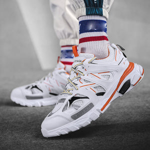 Men's Casual Colorblock Lace Up Sneakers