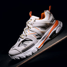 Load image into Gallery viewer, Men's Casual Colorblock Lace Up Sneakers