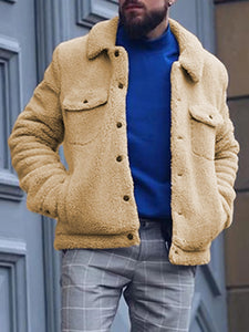 Men's fashion solid color single-breasted jacket