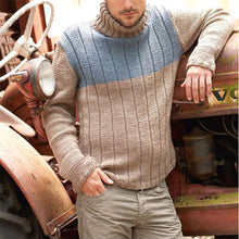Load image into Gallery viewer, Men's Stylish Casual Colorblock Turtleneck Sweater