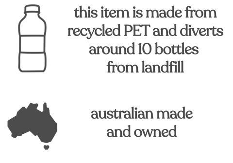 Australian Made Activewear - made from recycled PET bottles