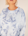 Johanna Crew Neck Sweatshirt Regular Fit Blue Tie-Dye - TWO SPARROW AUSTRALIA - Ethical Organic Natural Materials Sustainable Australia - Sweatshirt -