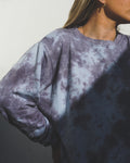 Johanna Crew Neck Sweatshirt Regular Fit Charcoal Tie-Dye - TWO SPARROW AUSTRALIA - Ethical Organic Natural Materials Sustainable Australia - Sweatshirt -