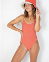 Womens Layla One-Piece - Coral Rib