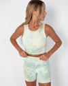 Taylor Sports Top - Pistachio Tie-Dye