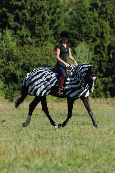 Manta Antimoscas Caballo Bucas. Buzz Off Riding Rug Zebra 1