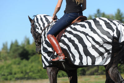 Manta Antimoscas Caballo Bucas. Buzz Off Riding Rug Zebra 3