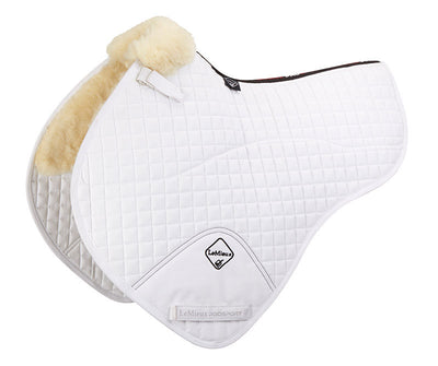 Sudadero LeMieux Lambskin Half Lined Close Contact Half Square Natural/Blanco
