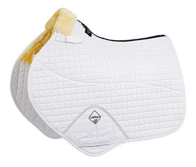 LeMieux Lambskin Half Lined Close Contact Square Natural/Blanco