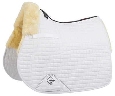 LeMieux Lambskin Half Lined GP Jump Square Natural/Blanco