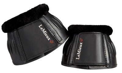 LeMieux Rubber Bell Boots with Fleece