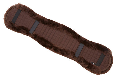 LeMieux Lambskin Dressage Girth Covers Marrrón/Marrón