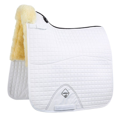 LeMieux Lambskin Half Lined Dressage Square Natural/Blanco