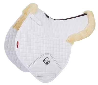 LeMieux Lambskin Half Lined Close Contact Numnahs Natural/Blanco