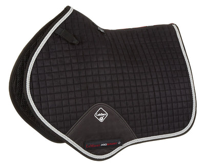 Sudadero Caballo LeMieux Suede Close Contact Squares With Braiding Negro/Cordón Plata