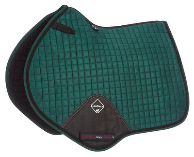 Sudadero Caballo LeMieux Suede Close Contact Squares With Braiding Verde/Cordón Negro