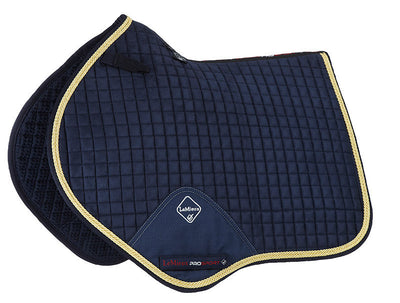 Sudadero Caballo LeMieux Suede Close Contact Squares With Braiding Marino/Cordón Oro