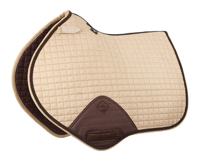 Sudadero Caballo LeMieux Suede Close Contact Squares With Braiding Beige/Cordón Marrón