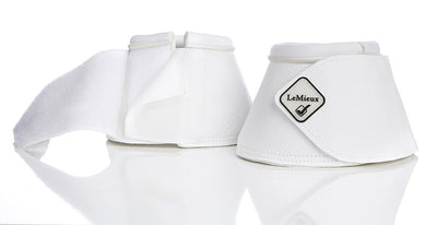 LeMieux Leather WrapRound Over Reach Boots Blanco