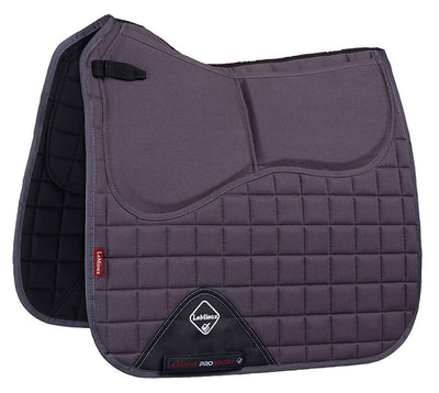 LeMieux Plain Cotton Pro-Sorb Dressage Square Gris