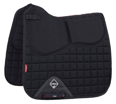 LeMieux Plain Cotton Pro-Sorb Dressage Square Negro