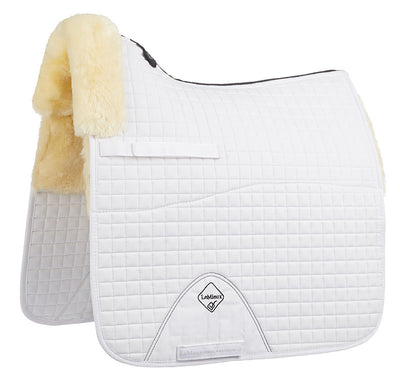 LeMieux Lambskin Pro-Sorb Dressage Half Lined Square Natural/Blanco