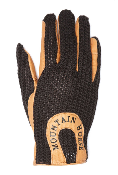 Mountain Horse Crochet Glove II JR Negro