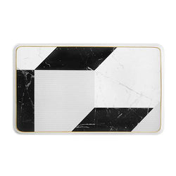 Plateau rectangulaire Carrara