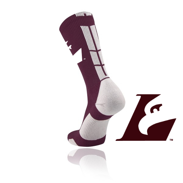 UWL Eagle L Maroon Sock