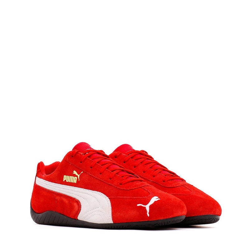 Red & White Speedcat LS Sneakers