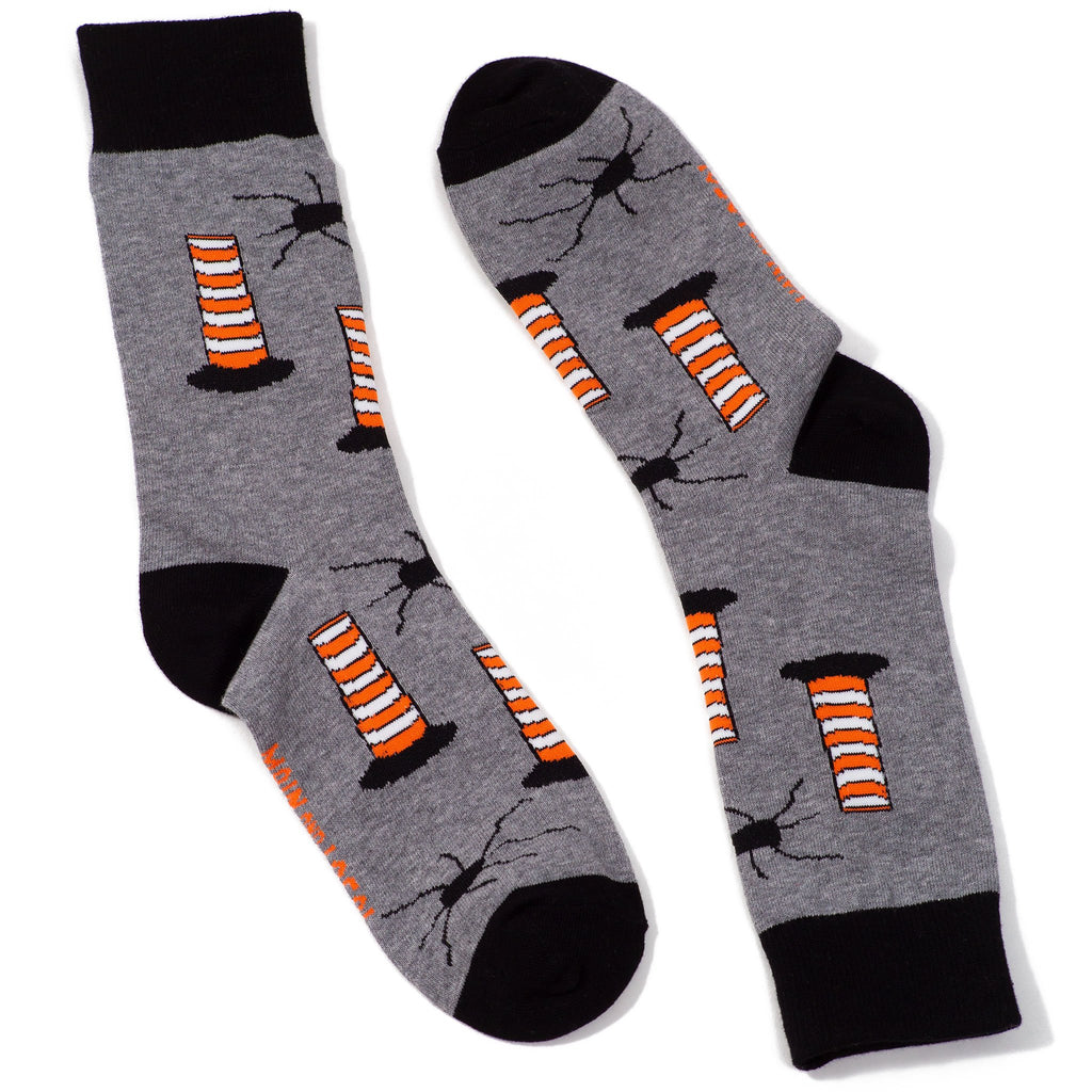Grey Montreal Construction Cone Socks