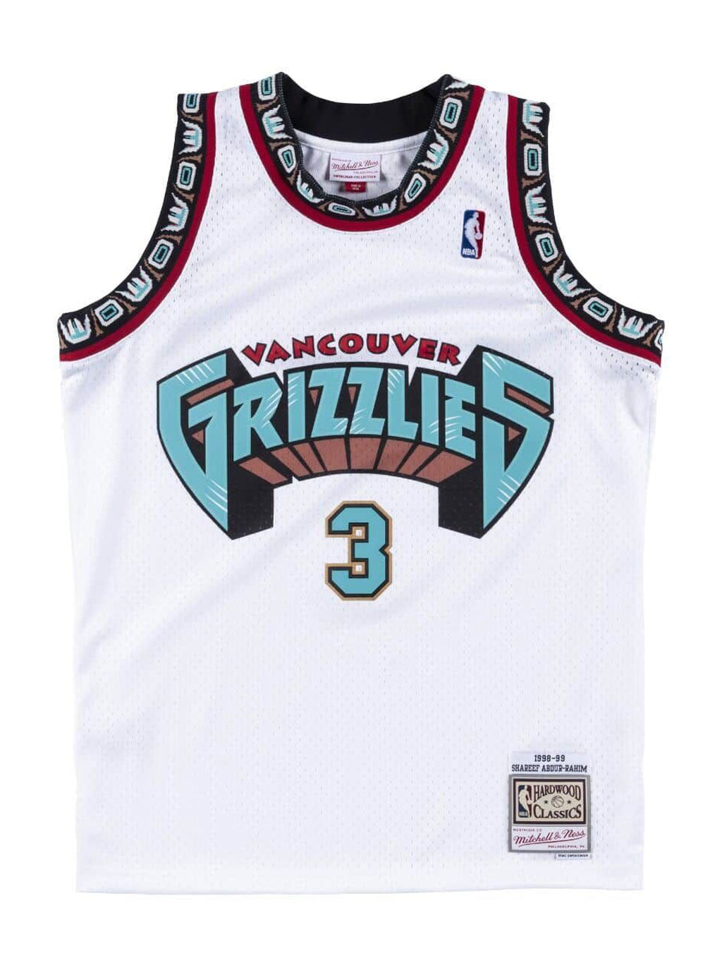 White NBA Vancouver Grizzlies Swingman 1998-99 Jersey