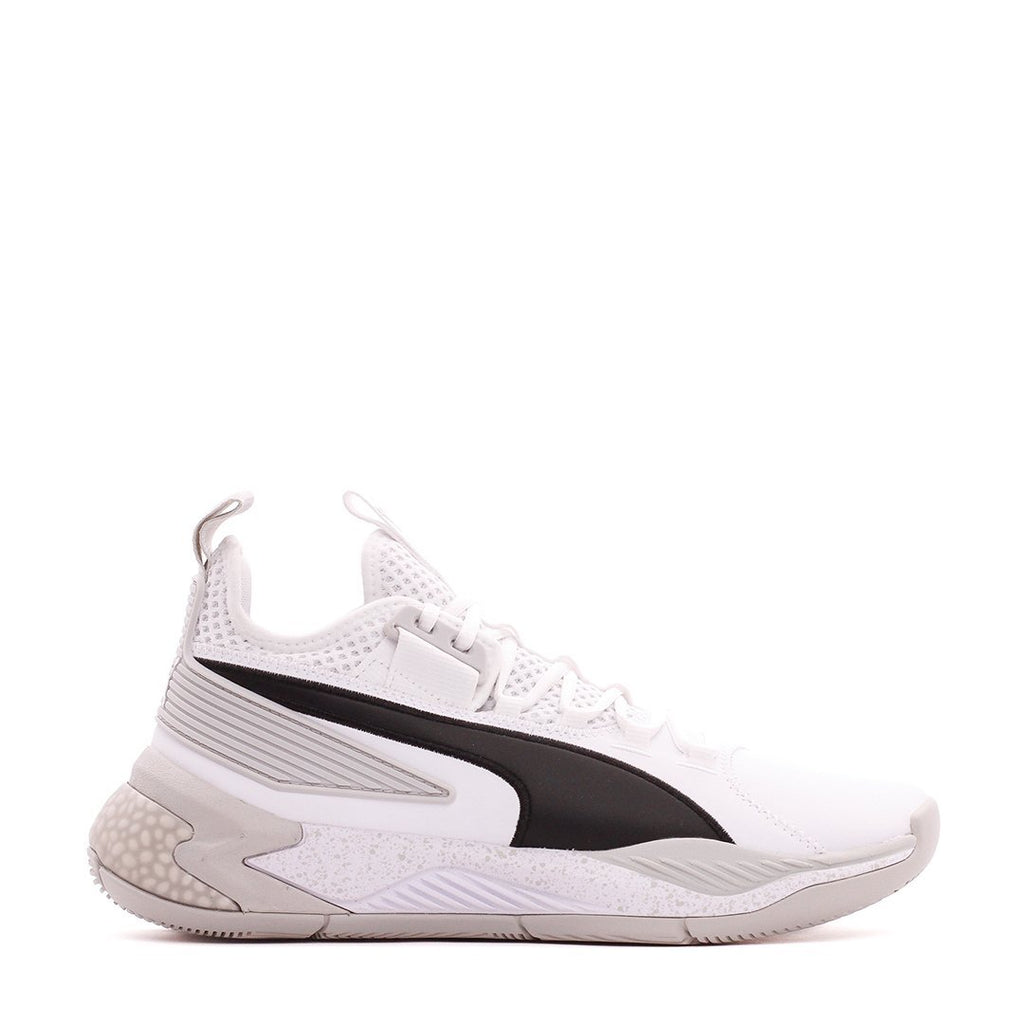 White & Grey Basketball Uproar Hybrid Court Shoes