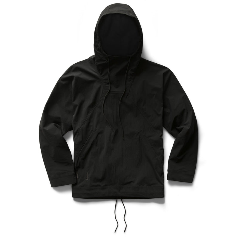 Black Jide Osifeso Knit Stretch Nylon Anorak