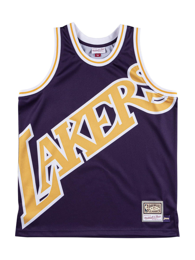 Purple NBA Los Angeles Lakers Big Face Jersey