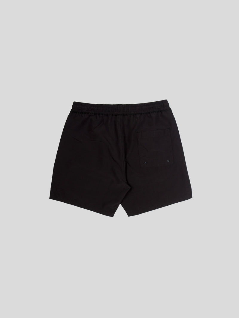 Black Woven Micro Fibre Swim Short