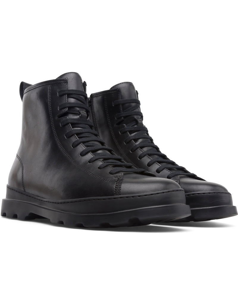 Black Brutus Lace-up Boots