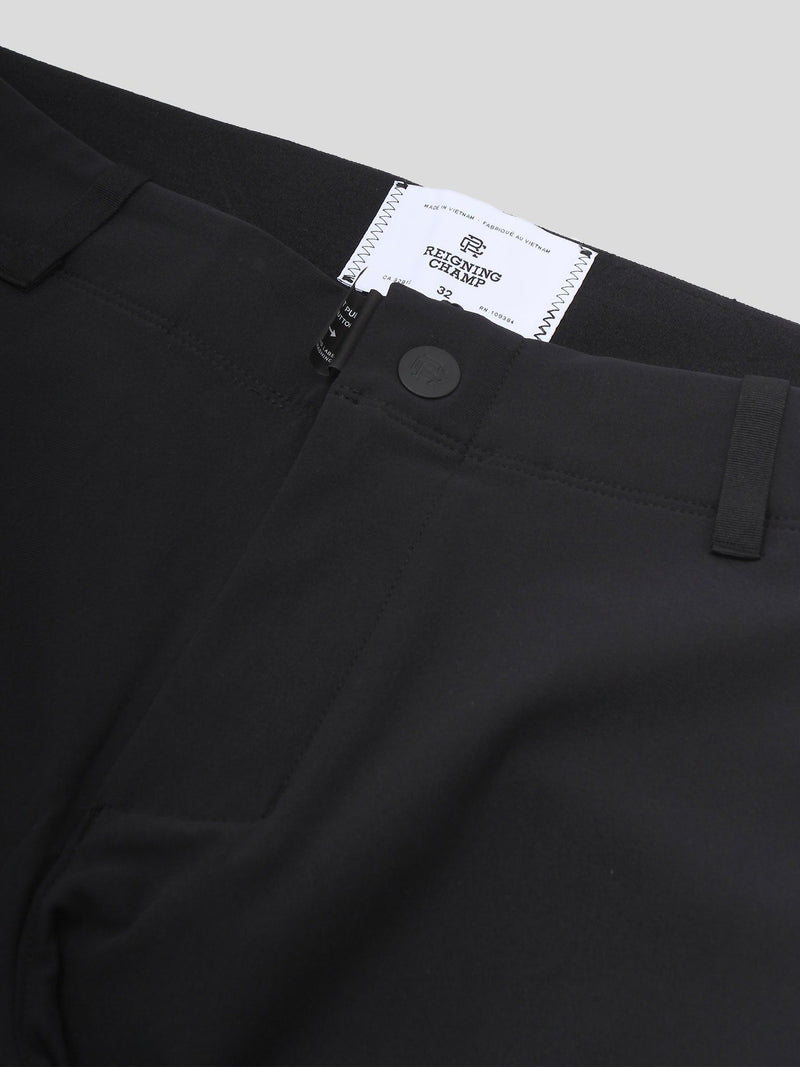 Black Knit Coaches Pant