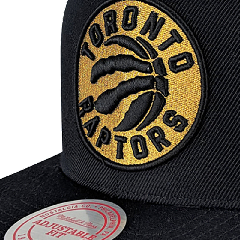 Black NBA Toronto Raptors Team Gold Snapback Cap
