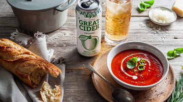 Roasted Tomato and Red Pepper Soup with Nice & Dry Cider