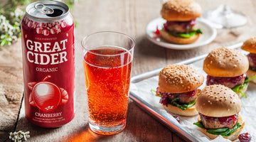 Turkey Meatball Sliders with Cranberry Cider