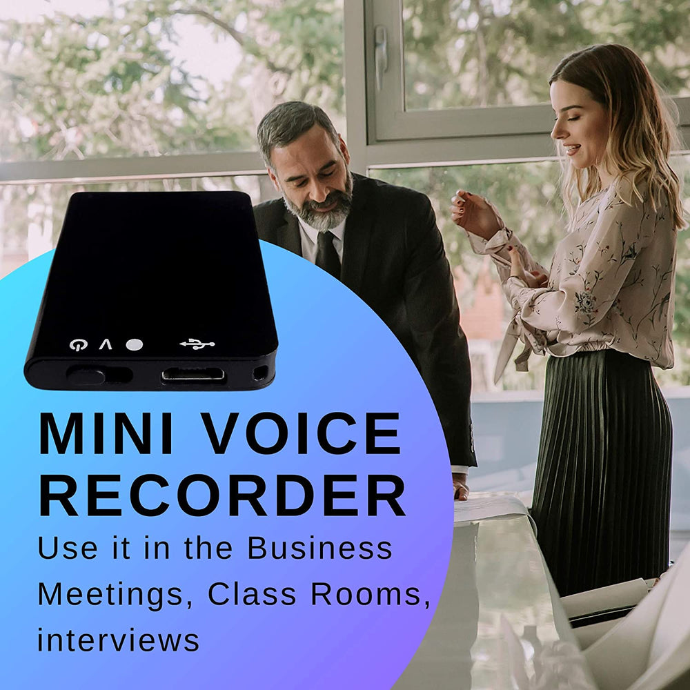 16GB Micro Audio Recorder with 192 Hours of Recording Time