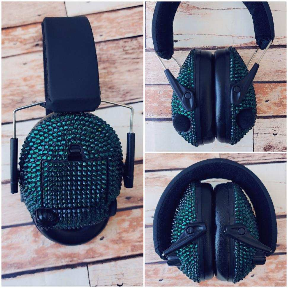 Emerald Sparkle Electronic Shooting Ear Muffs