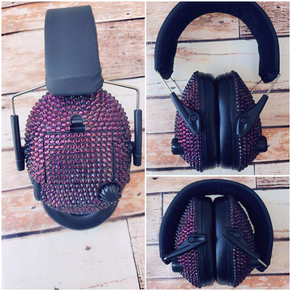 Dark Purple Sparkle Electronic Shooting Ear Muffs