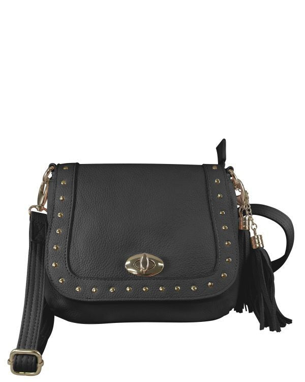 Studded Western Leather Concealment Bag (Colors: Pink or Blue)