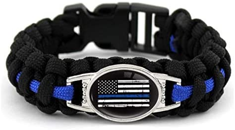 Blue Line Paracord Bracelet [Different Styles Available]