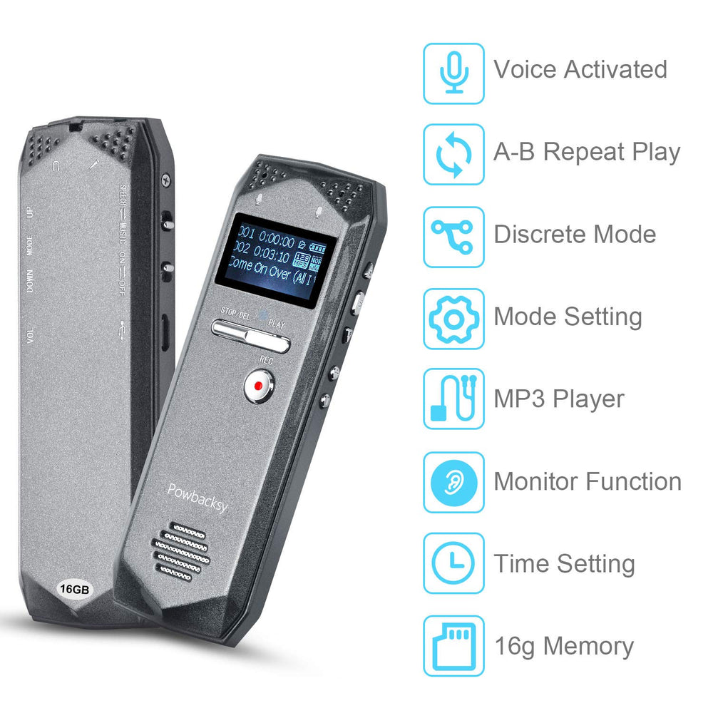 Voice Activated Digital Recorder [20 Hour Battery]
