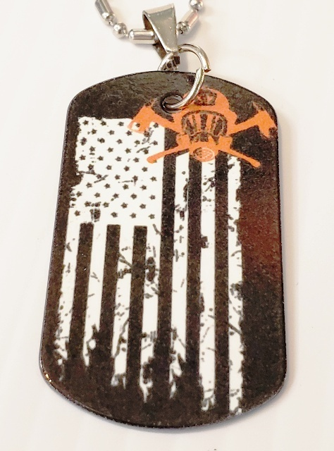 Red Line Dog Tag Necklaces